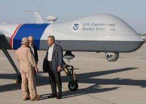 G.W. Bush with Border Control Drone